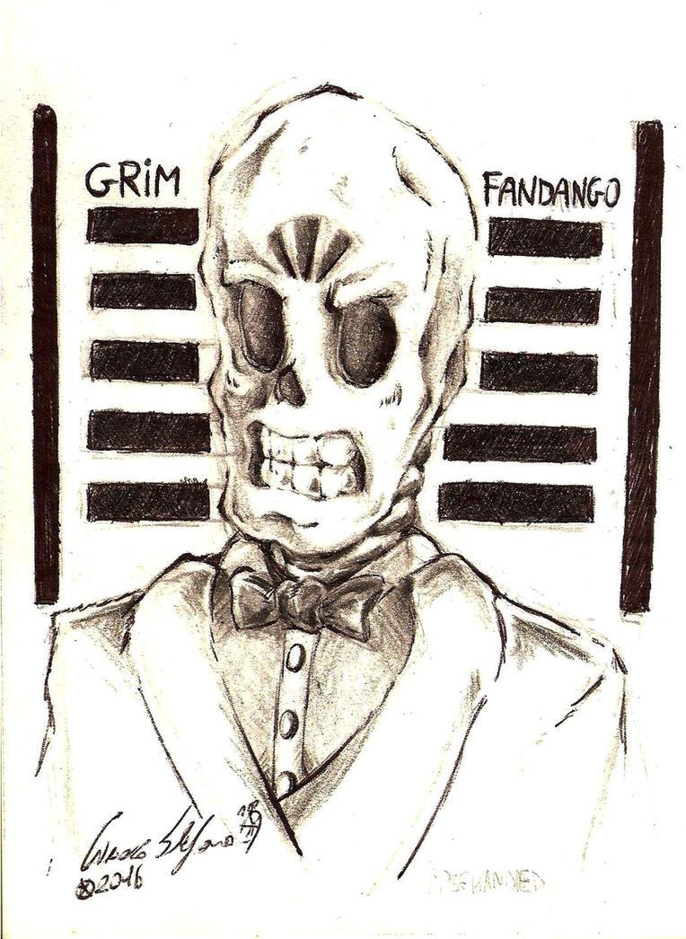 [GrimFandango]Manuel Calavera by SteveShadow
