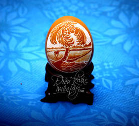 The eggshell carving