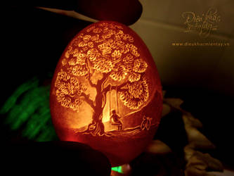 the eggshell carving by vnarts