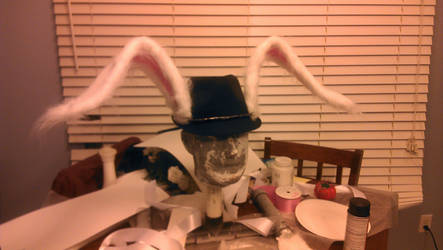 Bunny ears hat by Handcuffknot