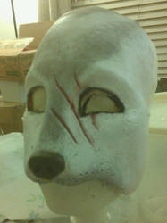 wolf mask before director requested repaint by Handcuffknot
