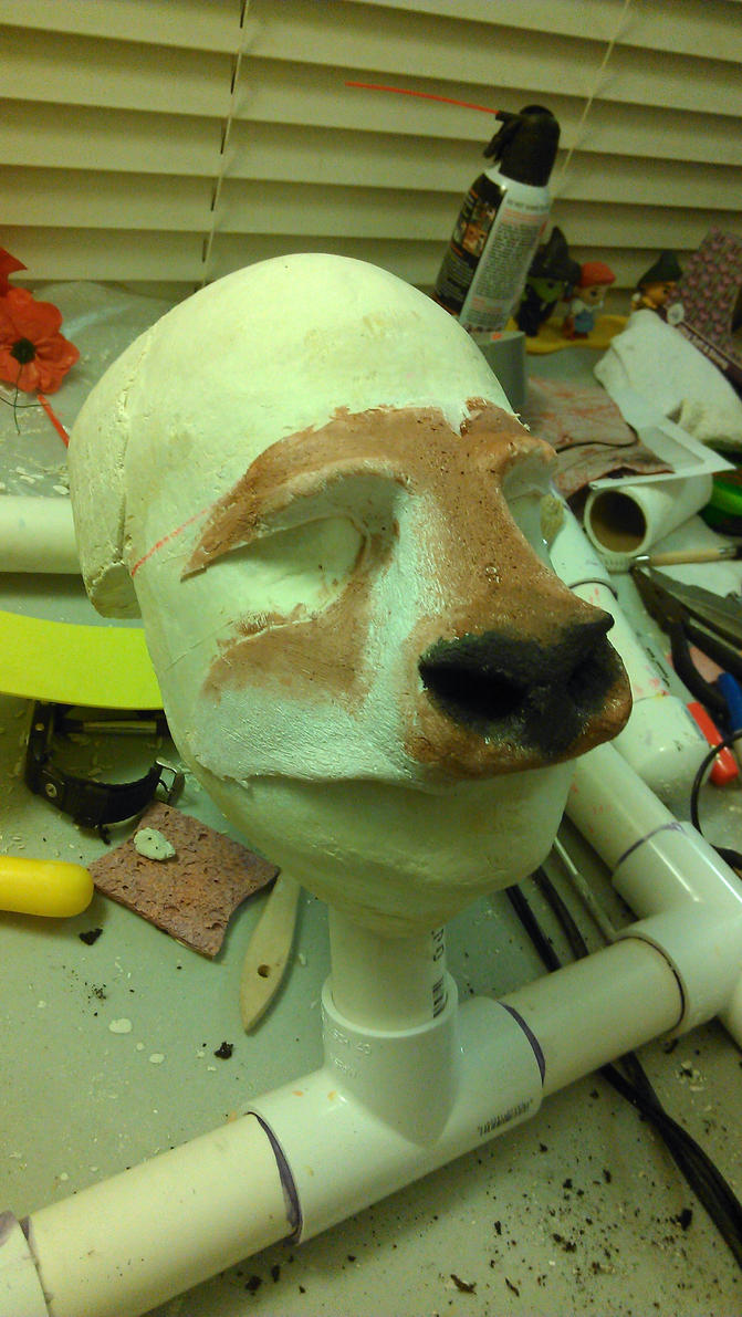 Elk nose before changed for actor by Handcuffknot