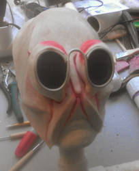 crab mask before repaint by Handcuffknot