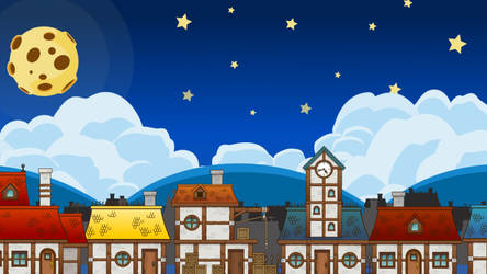 Vector night town