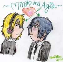 Minato and Aigis by cleris4ever