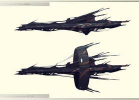 Qaidan Battlecruiser by AtomicGenjin