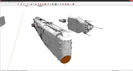 Heavy Attack Cruiser type-underconstruction by AtomicGenjin