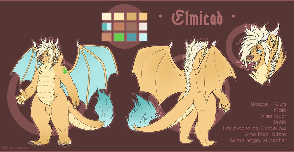 Elmicad - Ref comish by Flyremoon