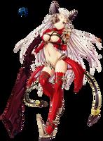 Queen Aldra Full Body Queen's Blade Render by Elpida-Wood