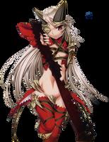 Queen Aldra Queen's Blade The Evil Eye Render by Elpida-Wood