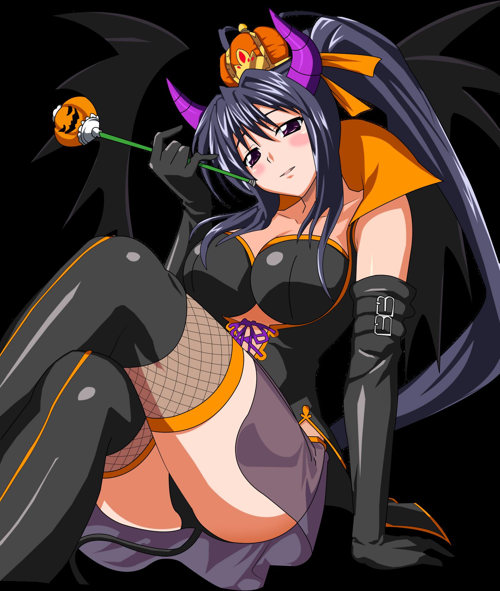 Akeno Halloween Devil Queen Color by Elpida-Wood on DeviantArt