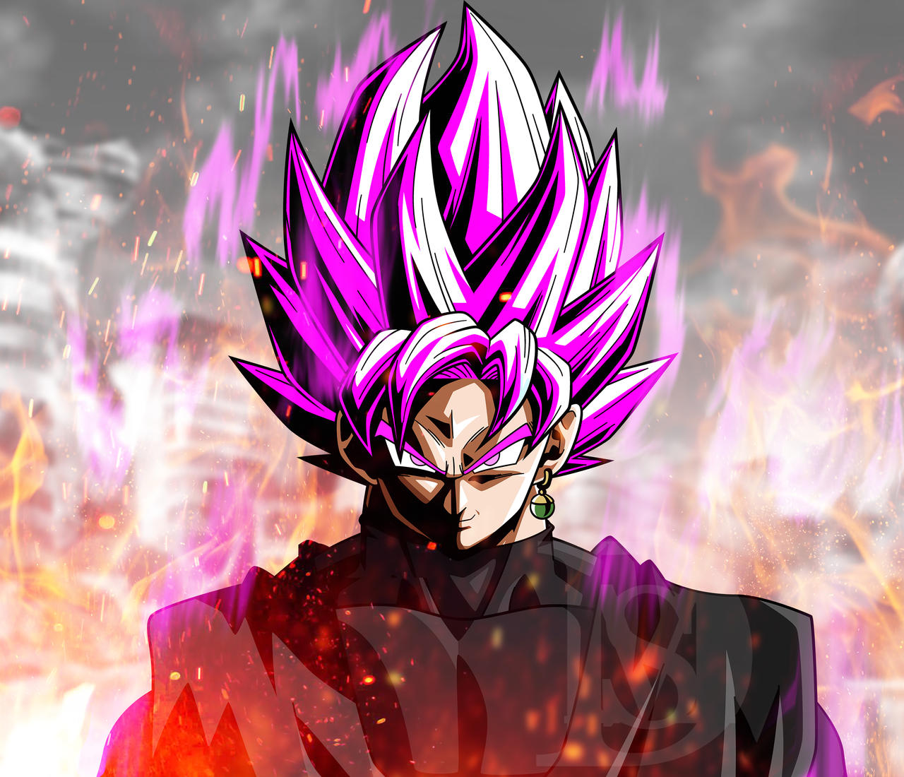 Super Saiyan Rose Black Goku (W. City Destroyed) By