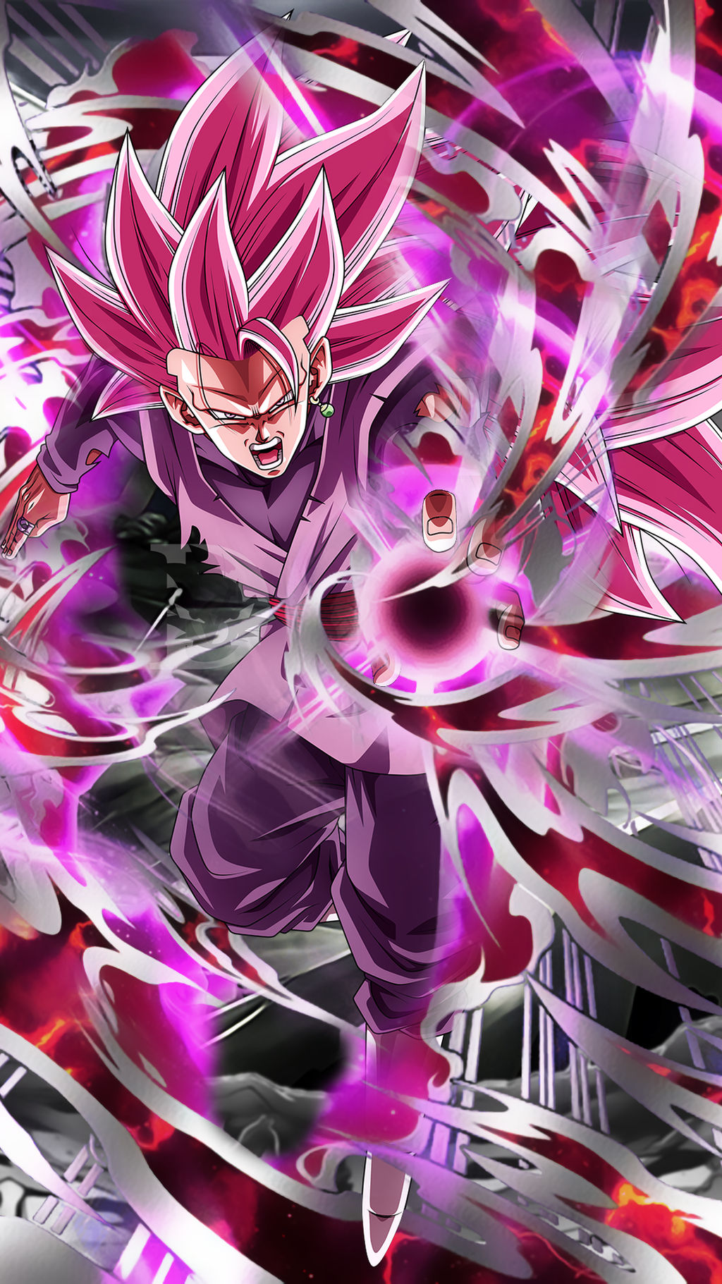 Goku Black Super Saiyan Rose 3 Wallpaper By Davidmaxsteinbach On