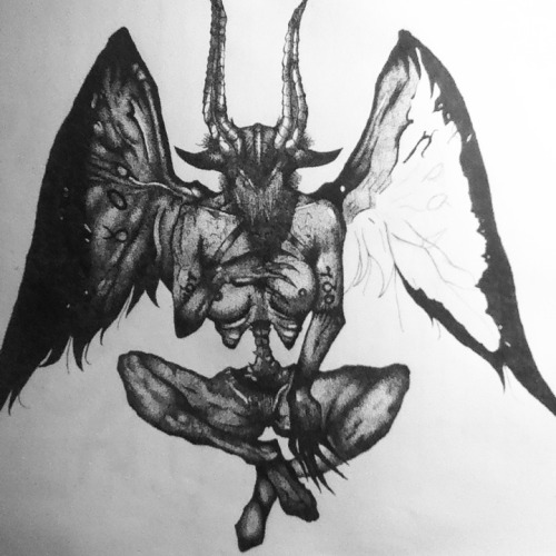 Incubus (Silent Hill) Stippling WIP 11 by razorthecurse