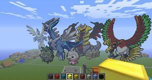 Minecraft Pixel Art: Some Pokemons by Ada2987