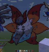 Minecraft Pixel Art: Volcarona by Ada2987