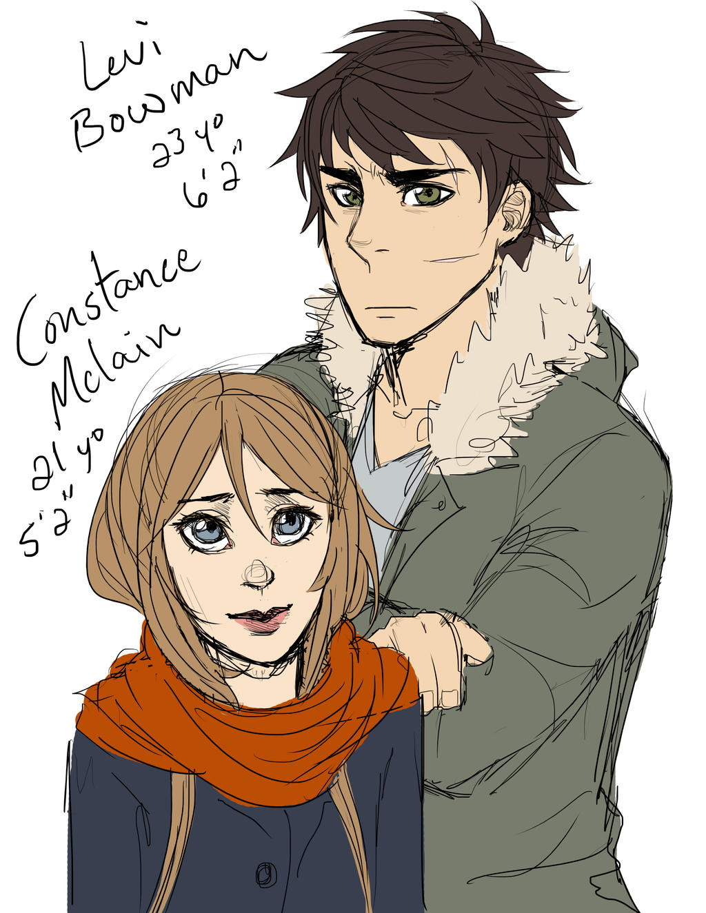 Levi and Constance by jennifurball