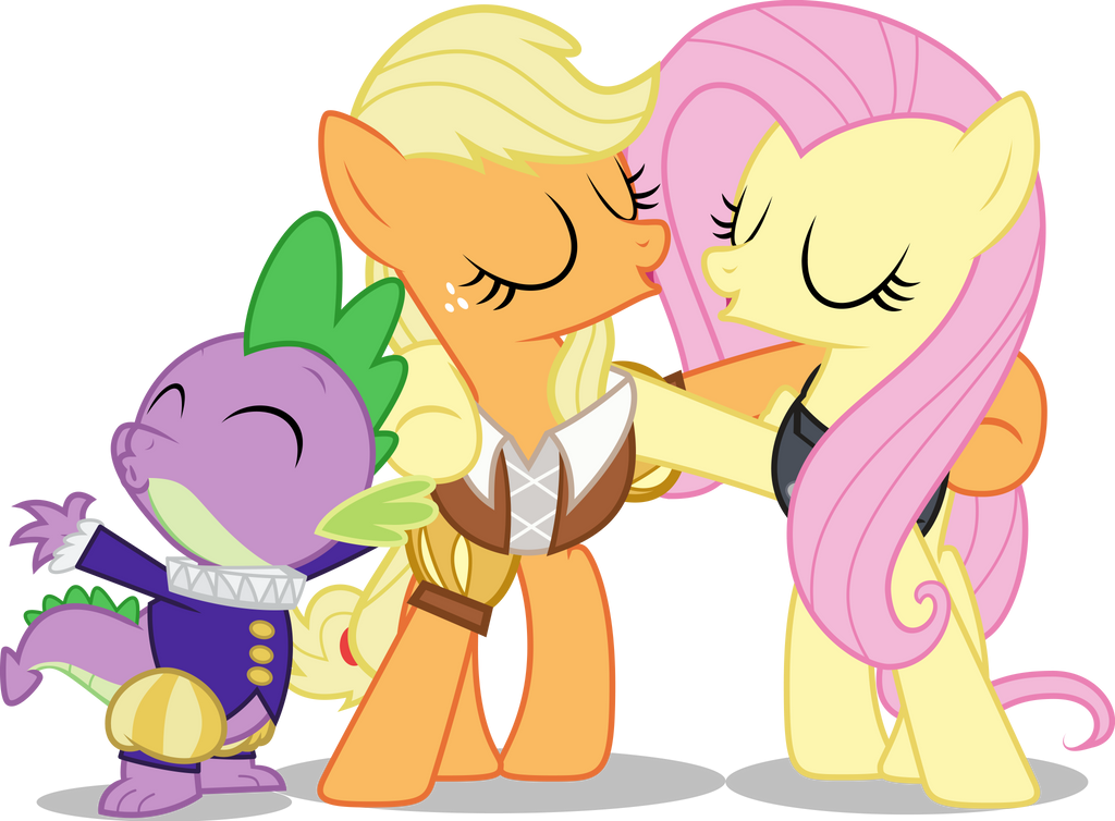 MLP Hearts Carol: Spike Applejack and Fluttershy by mewtwo-EX