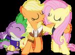 MLP Hearts Carol: Spike Applejack and Fluttershy