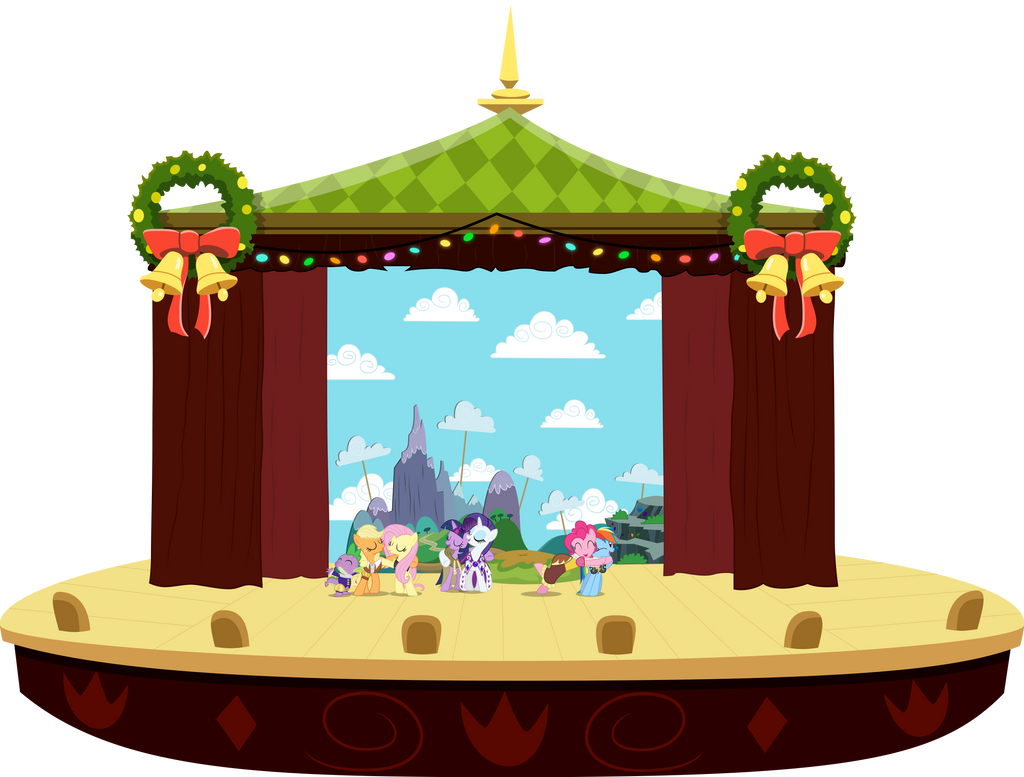 MLP Heart's Carol: Full Stage View w/ Characters