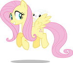 MLP: Fluttershy and Angel flying