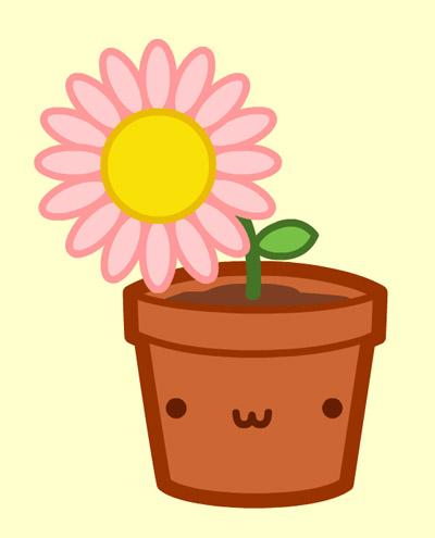 Kawaii Flower Pot by nickbachman