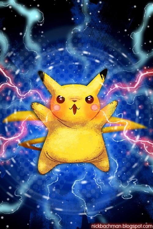 Pikachu iPhone Wallpaper by nickbachman