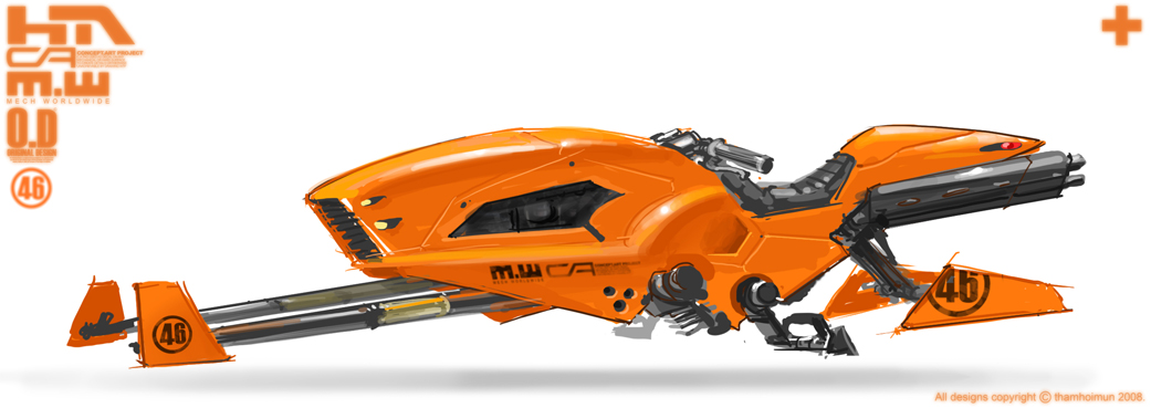 Orange Speeder Bike by NuMioH