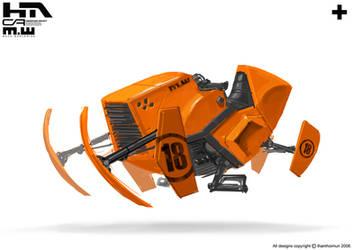 Orange bike 3 by NuMioH