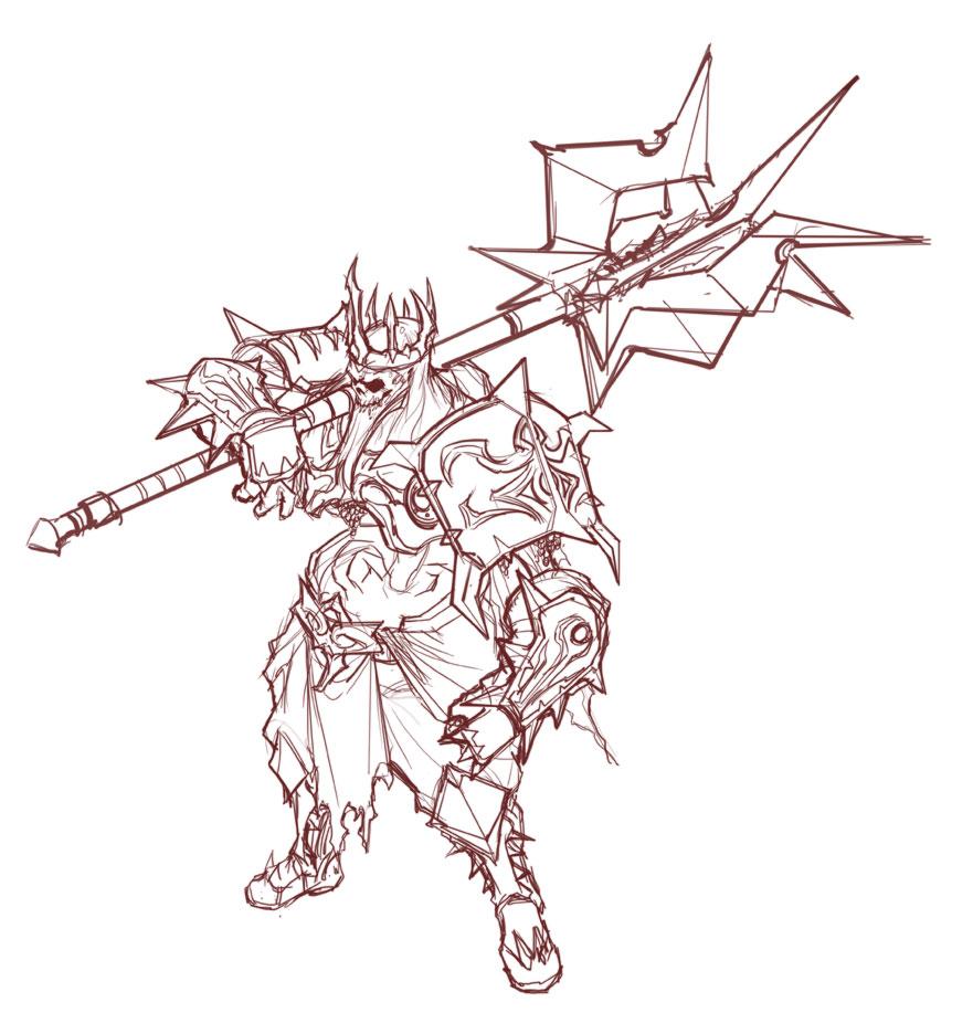 Deja aquí tus dibujos! ^^ - Página 3 Diablo_3_Skeleton_King_Line_by_NuMioH