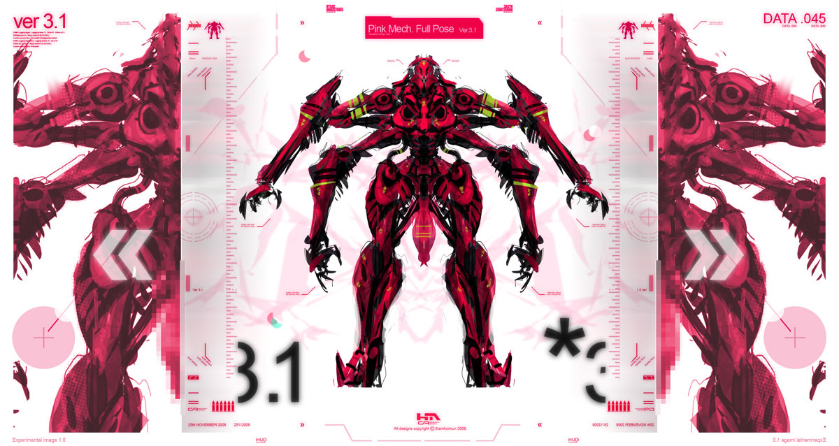 Miss Pink Droid GRAPHIX by NuMioH