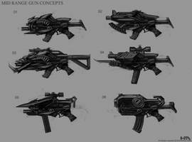 Mid Range Guns by NuMioH