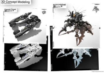 3D Mechanical Units by NuMioH
