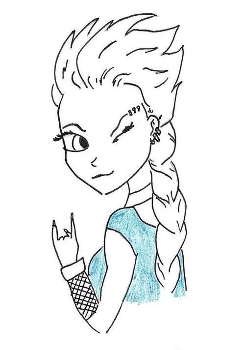 Punk Elsa by killhawkeye