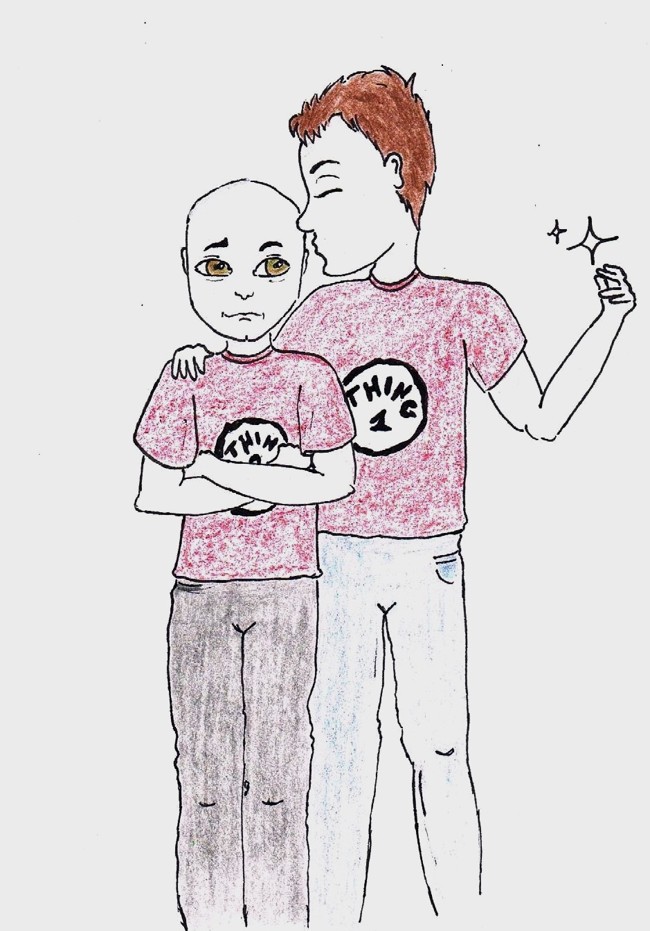 Q And Picard (aka Thing 1 and Thing 2) by killhawkeye