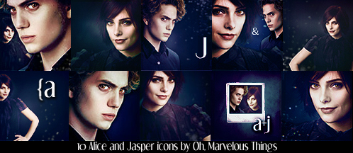 Alice and Jasper Icons by Oh-Marvelous-Things