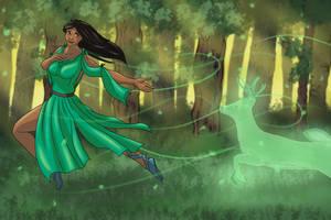 Druid and Spirit by JoBWaggon