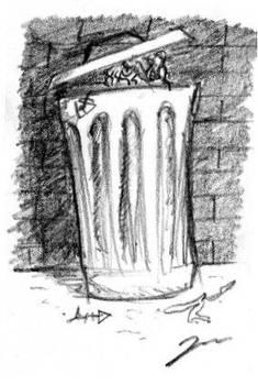 El Murri en un cubell
