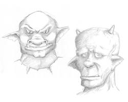 Monster Faces by Oloring