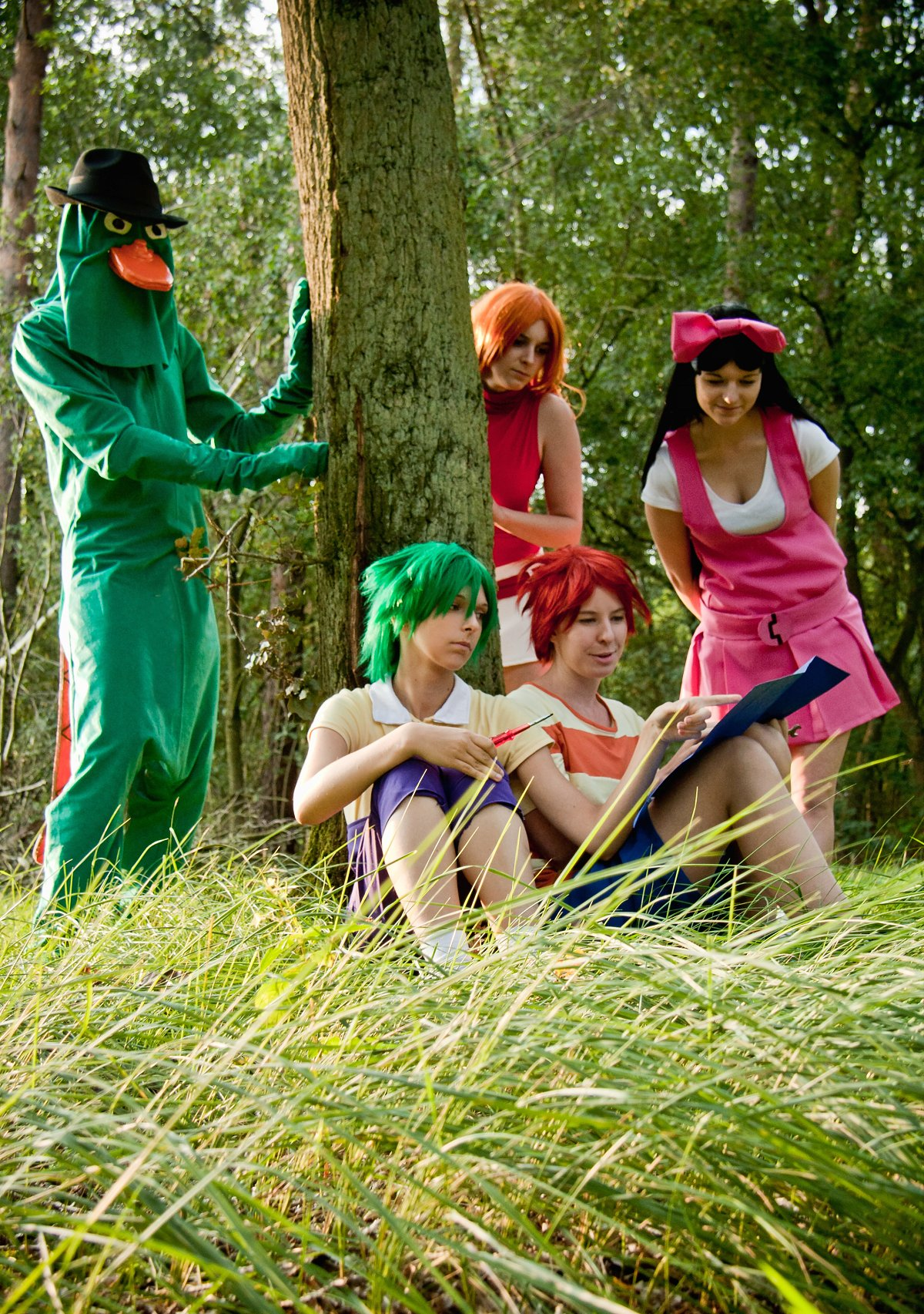 Phineas and Ferb cosplay group