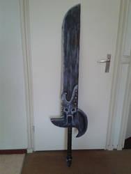 Large demonic sword
