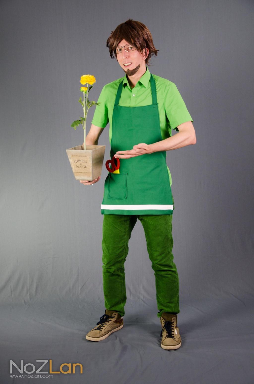 Mr Mendel cosplay - Streetpass Garden by Oloring