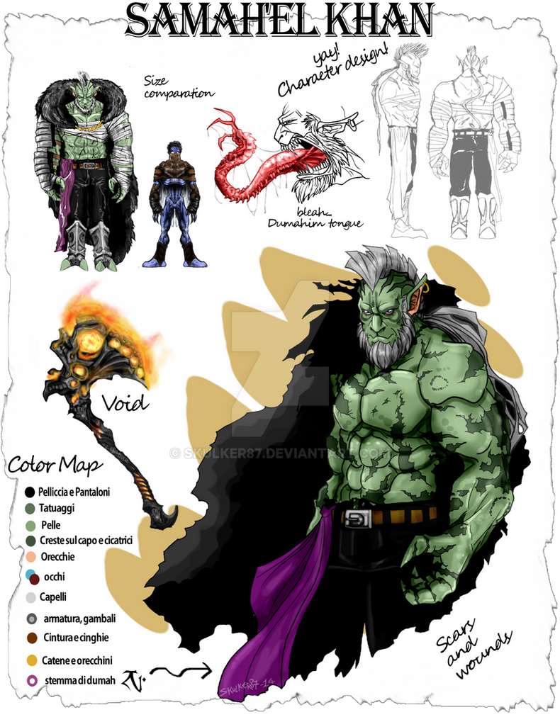Character study- samah'el Khan by skulker87