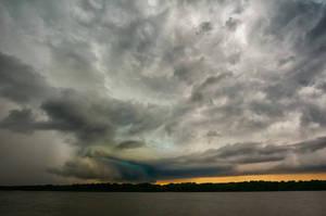 Storm over Danube by ibasimaikataimeto