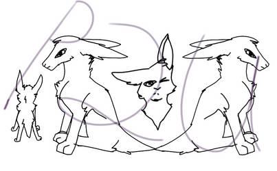 P2U rabbit line art
