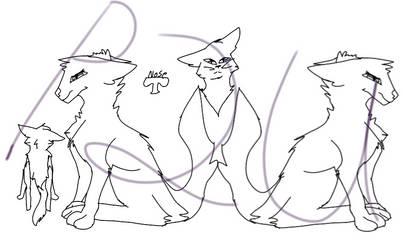 P2U Cat lineart