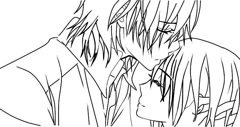 Vampire knight kaname x yuuki by cindychang on deviantart for Vampire knight coloring pages