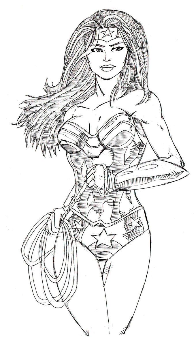 Wonder Woman sketch by SteelhavenStudio on DeviantArt