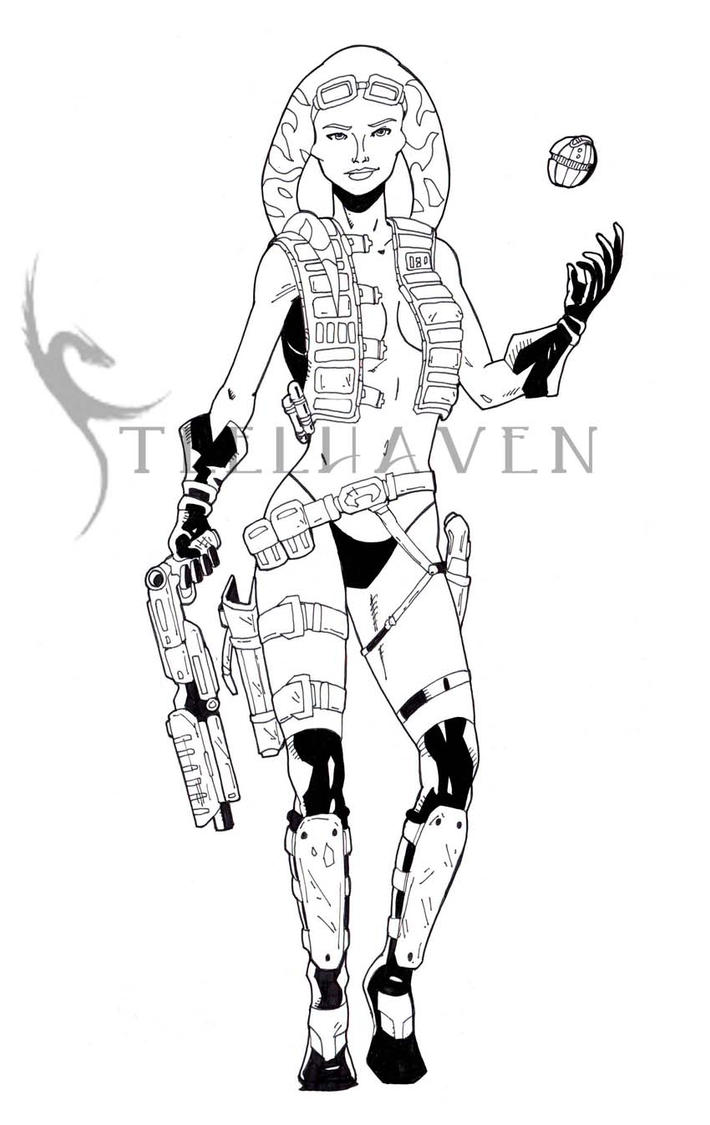 TOR Scoundrel Lineart by SteelhavenStudio
