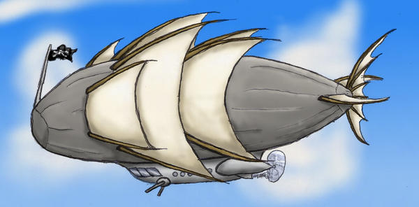 Airship by Thebazilly